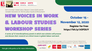 New Voices in Work & Labour Studies Workshop Series