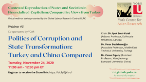 Politics of Corruption and State Transformation: Turkey and China Compared