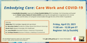 Embodying Care: Care Work and COVID-19