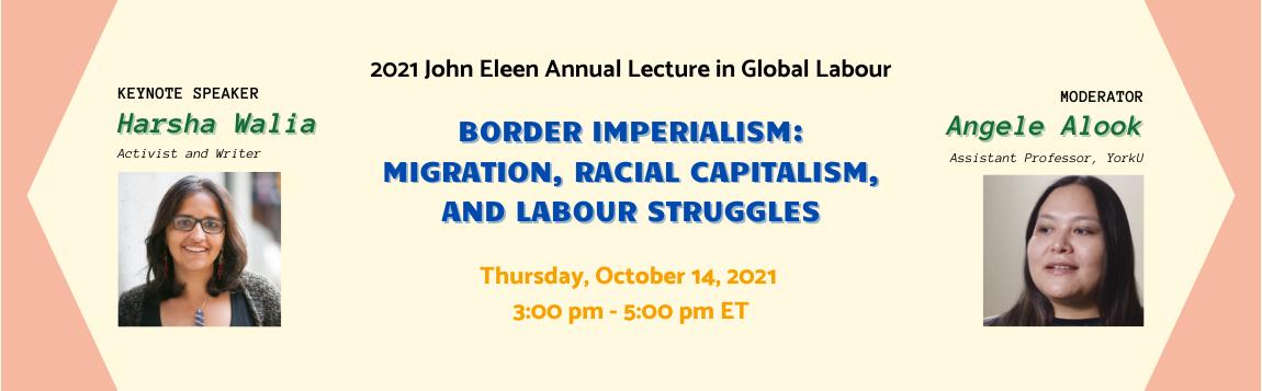 2021 John Eleen Lecture